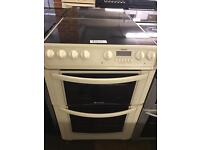 OFF WHITE HOTPOINT ELECTRIC COOKER 60CM WIDE WITH GUARANTEE