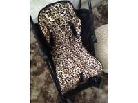 Baby k leopard print stroller