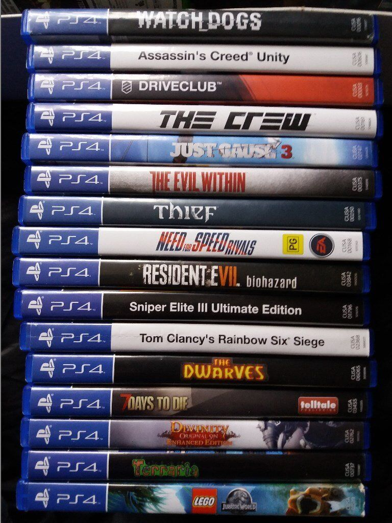 ps4 games various titles and prices
