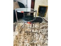 Set of mirrored sidetable (silver)