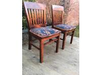 Retro well built pair of dining table chairs, bargain free delivery