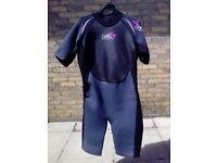 Size 16, women's large, short sleeved wetsuit.
