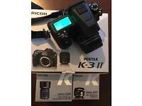 Pentax K-3 II.+3.lens.New with warranty.(or swap)