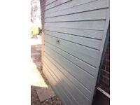 Garage door metal free