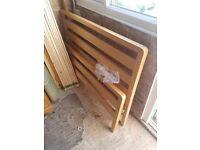 Wooden Double Bed + Mattress
