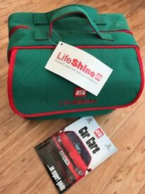 Perfect gift for Car Maintenance and Care, Lifeshine Auto Glym kit, in robust canvas carrying case