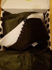 Richmond Lace Up Pixie Boots Size 5 in Suede BRAND NEW