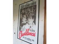 Framed print of poster from film Casablanca