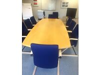 Boardroom Table, can come with 12 chairs