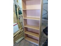 tall wood effect bookcase with movable shelves