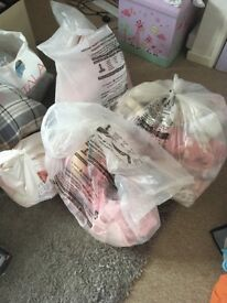 Bags of girls clothing