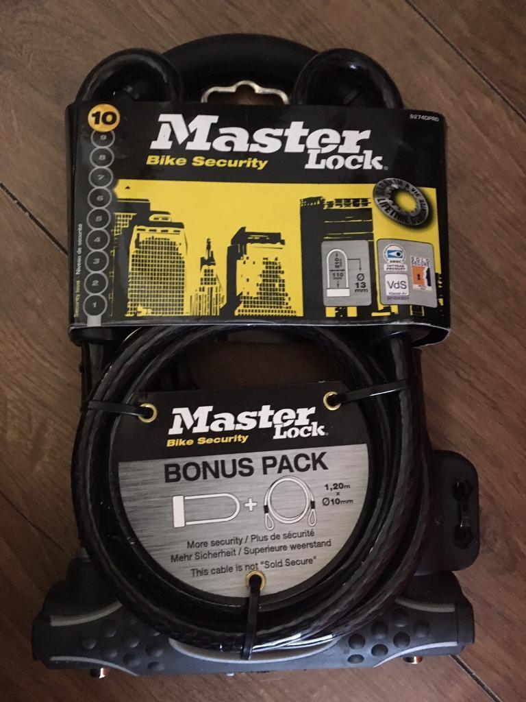 Masterlock bike lock bonus pack