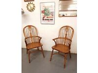 Vintage Solid Oak Windsor Chair by Old Charm