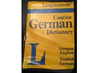 Concise german dictionary