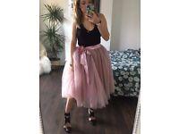 Midi Tulle Tutu style skirt - Antique Pink (Brand New)