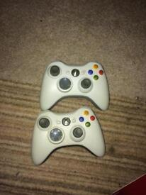 2 x Xbox 360 controllers