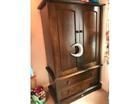 Boori wardrobe and chest of drawers antique oak good condition