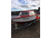 Microplus boat for sale with mariner 15 hp 4stroke