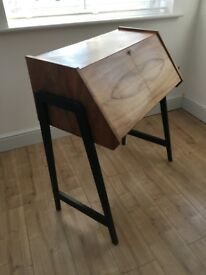 Retro, vintage 1970's walnut desk