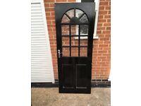 External half glazed wooded reclaimed door