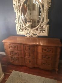 Beautiful French bow front sideboard/draws