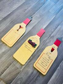 Set of 3 Quirky Wine Plaques Cocktail Recipe Novelty Wall Hanging Funny Home Decor Art
