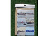 Set of Waverley Paddle Steamer's Visit to Portsmouth ( Heat Resistant Coasters )