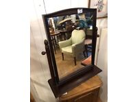 Stag Mirror - Free standing on a stand , great for on top of chest of drawers .