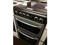 50CM HOTPOINT FAN ASSISTED DOUBLE OVEN ELECTRIC COOKER4016