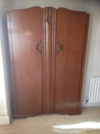 Antique double wardrobe excellent condition
