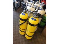 diving 300 bar twin 12L set