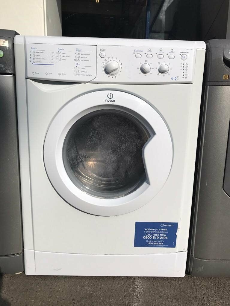Indesit IWDC6143 6+5kg 1400 Spin White Sensor Washer/Dryer 1 YEAR GUARANTEE FREE FITTING