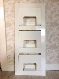 *BARGAIN* CLEARENCE * IKEA Newspaper rack SPONTAN white colour wall file holder office