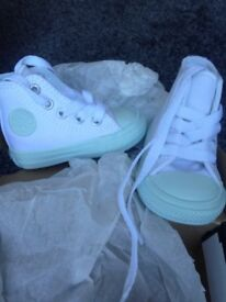 Chuck Taylor baby blue and white converse