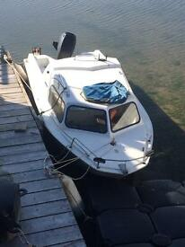 Micro plus cabin boat with 25hp 4 stroke