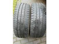 2 x 235/65/16c Michelin aglish 7mm part worn tyres