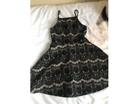 Girls black party dress age 9 years