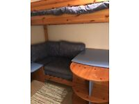 Stompa Casa High Sleeper with sofa, sofa bed, pullout desk and storage