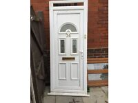 White pvc door with fanlight