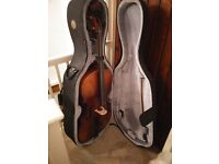 Beautiful 3/4 size cello with hard case