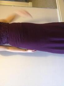 Beautiful Plum coloured Prom / Bridesmaids dress