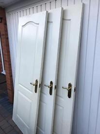Internal Doors with brass handles