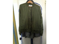Mens Topman green bomber jacket size medium for sale.