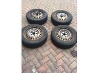Winter tyres 205/55x16 on Honda Civic 2007 steel wheels
