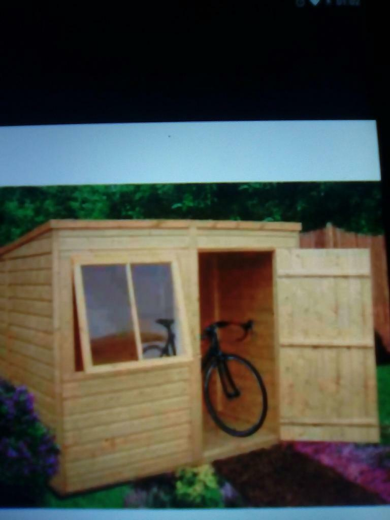 8x6 pent roof shed
