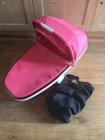 Quinny foldable carrycot pink precious buzz Moodd