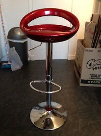 Four Red Barstools
