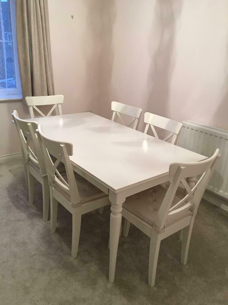 Reduced Ikea Ingatorp Dining Table And 6 Chairs In Sarisbury Green Hampshire Gumtree
