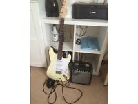 Electric Guitar starter kit, Fender Amp and Squire by Fender