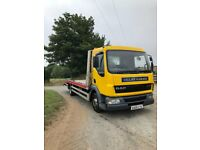 2005 DAF LF 45 7.5t recovery truck, lightweight alloy bed can carry 4 tonnes